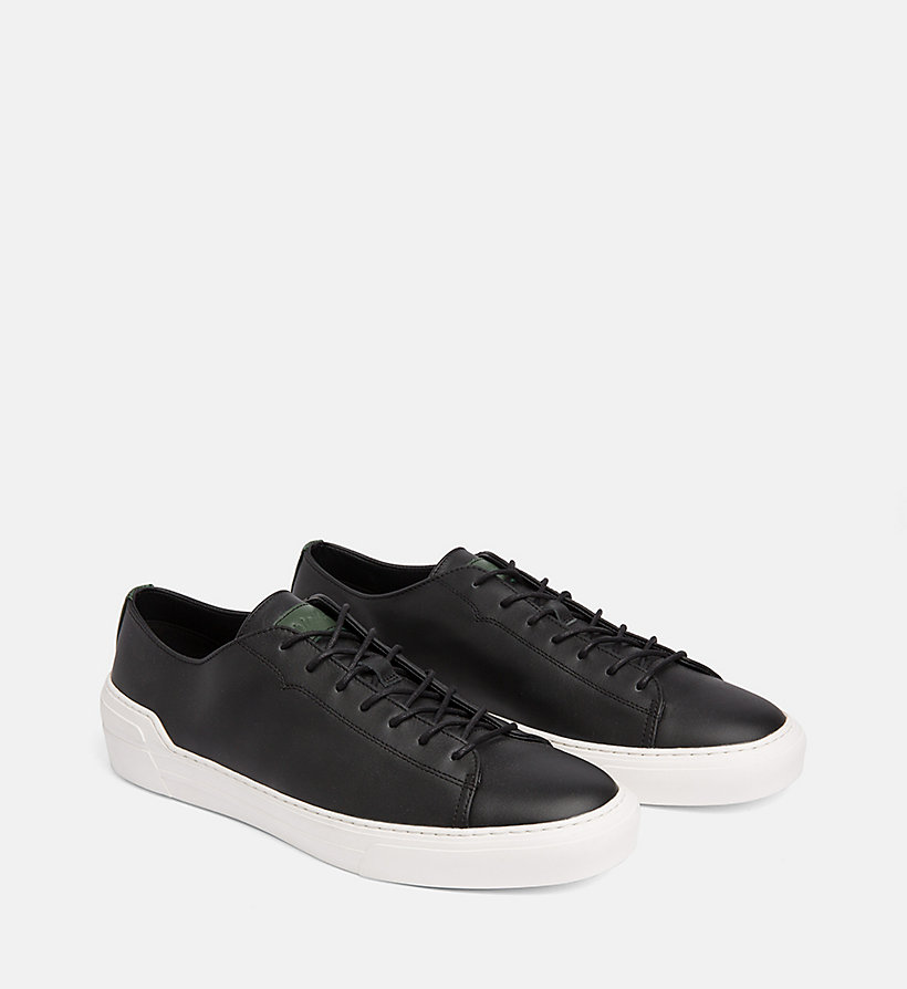 CALVINKLEIN Leather Trainers - NIGHTSCAPE - CALVIN KLEIN MEN - detail image 1