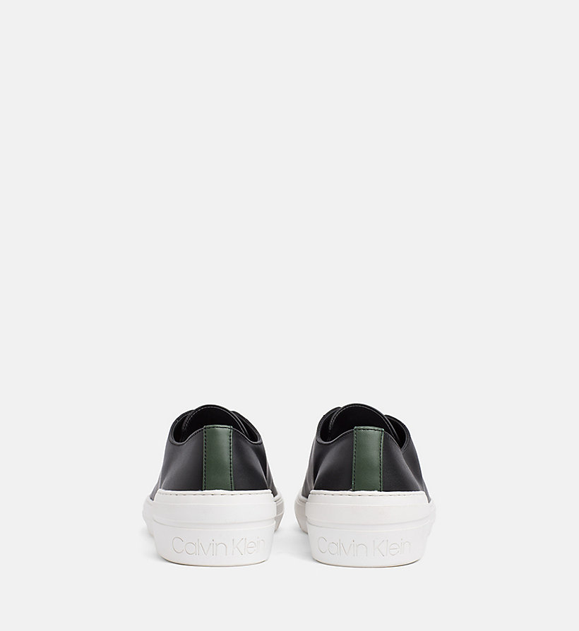 CALVINKLEIN Leather Trainers - NIGHTSCAPE - CALVIN KLEIN MEN - detail image 2