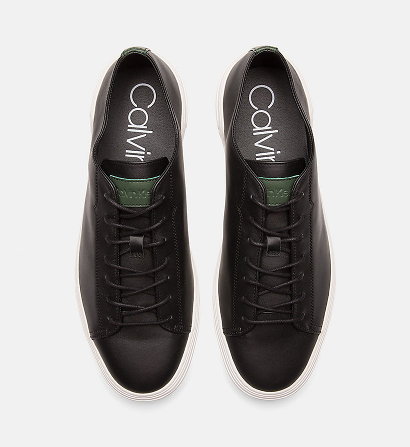 CALVINKLEIN Leather Trainers - NIGHTSCAPE - CALVIN KLEIN MEN - detail image 3