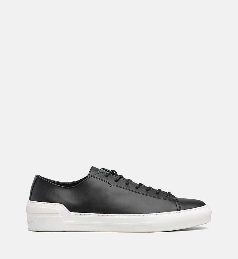 CALVINKLEIN Leather Trainers - NIGHTSCAPE - CALVIN KLEIN MEN - main image