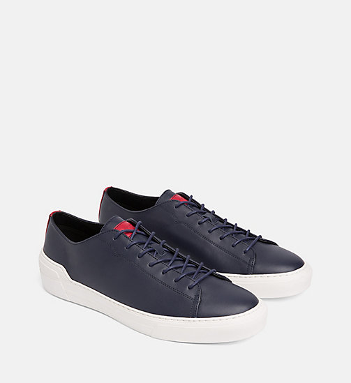 CALVIN KLEIN Leather Trainers - NIGHTSCAPE - CALVIN KLEIN TRAINERS - detail image 1