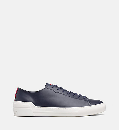 CALVINKLEIN Leather Sneakers - NIGHTSCAPE - CALVIN KLEIN TRAINERS - main image