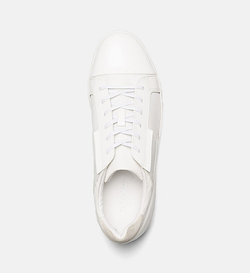 CALVINKLEIN Leather Sneakers - WHITE - CALVIN KLEIN BLUES MASTER - detail image 1