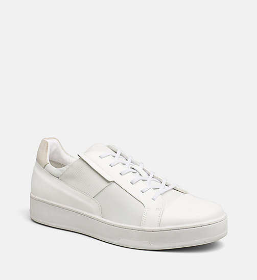 CALVINKLEIN Leather Sneakers - WHITE - CALVIN KLEIN BLUES MASTER - main image