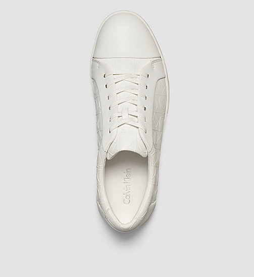 CALVINKLEIN Leather Sneakers - BLACK/WHITE - CALVIN KLEIN TRAINERS - detail image 1