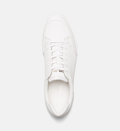 CALVINKLEIN Leather Sneakers - WHITE -  MODERN VARSITY - detail image 1