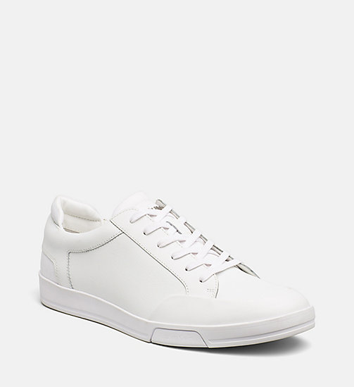 CALVINKLEIN Leather Sneakers - WHITE -  MODERN VARSITY - main image