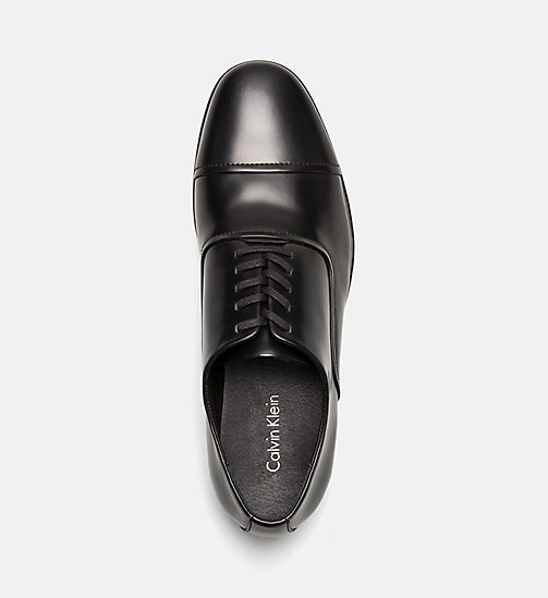 CALVINKLEIN Leather Lace-Up Shoes - BLACK -  FLAT SHOES - detail image 1