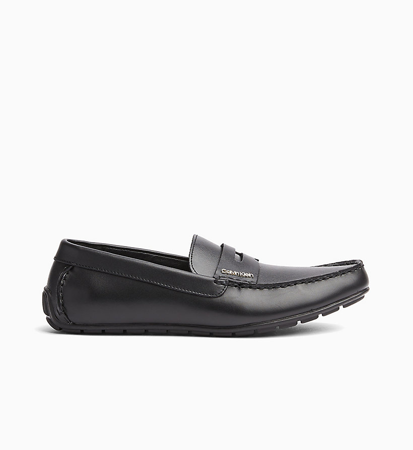 CALVINKLEIN Leather Loafers - WHITE - CALVIN KLEIN MEN - main image