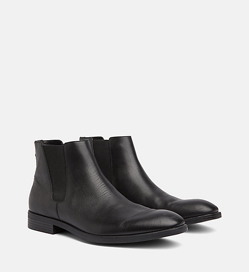 CALVINKLEIN Leather Ankle Boots - BLACK - CALVIN KLEIN BOOTS - detail image 1