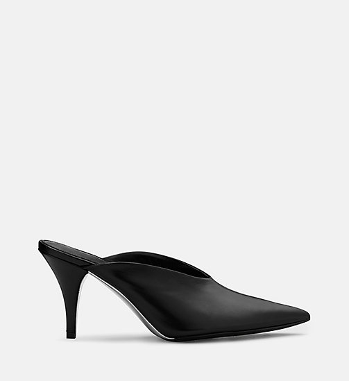 CALVIN KLEIN COLLECTION Calf Leather Heeled Mules - BLACK - CALVIN KLEIN COLLECTION SHOES & ACCESSORIES - main image