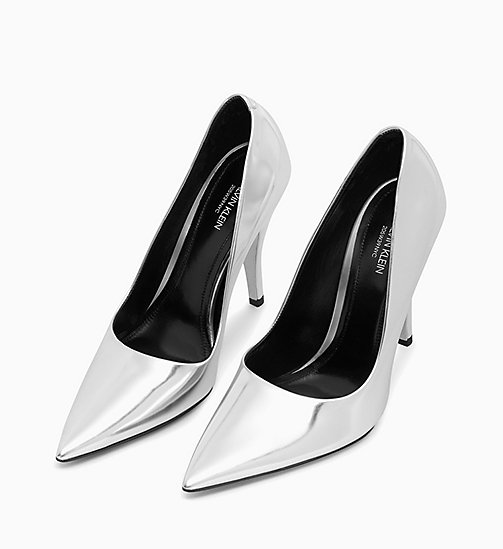 205W39NYC High-Heeled Pumps in Metallic Leather - SILVER - 205W39NYC CLOTHES - detail image 1