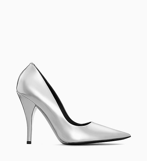205W39NYC High-Heeled Pumps in Metallic Leather - SILVER - 205W39NYC SHOES & ACCESSORIES - main image