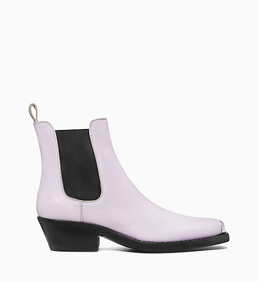 205W39NYC Western Chelsea Boots in Calf Leather - AMETHYST - 205W39NYC SHOES & ACCESSORIES - main image