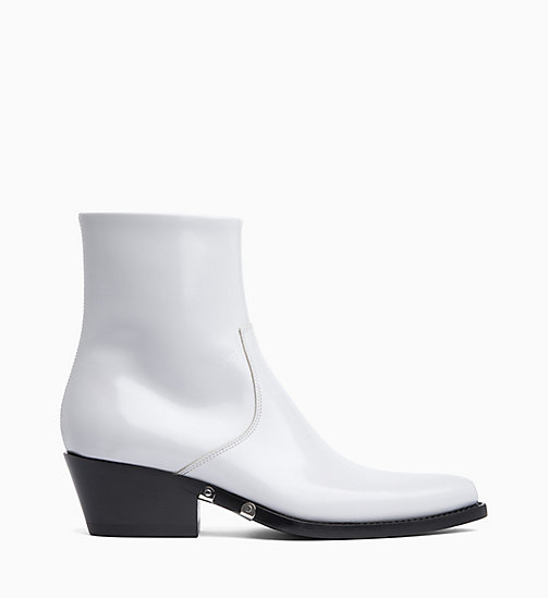 205W39NYC Western Ankle Boots in Calf Leather - PALE AMETHYST - 205W39NYC CLOTHES - main image