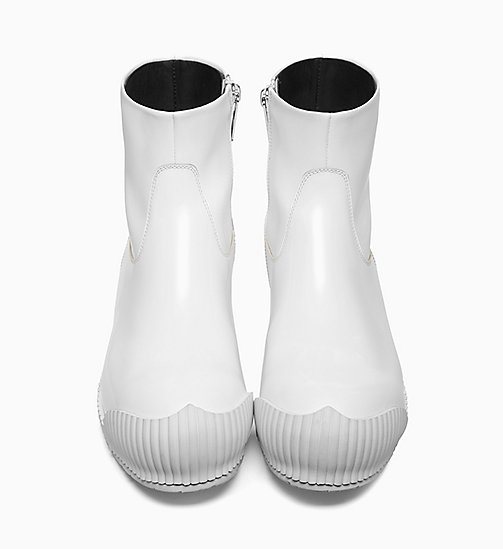 205W39NYC Fireman Ankle Boots in Calf Leather - WHITE - 205W39NYC SHOES & ACCESSORIES - detail image 1