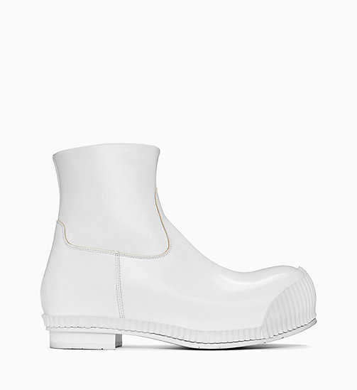 205W39NYC Fireman Ankle Boots in Calf Leather - WHITE - 205W39NYC SHOES & ACCESSORIES - main image