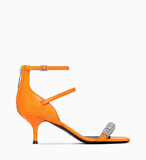 205W39NYC Mid-Heeled Sandals in Patent Leather - ORANGE - 205W39NYC SHOES & ACCESSORIES - main image