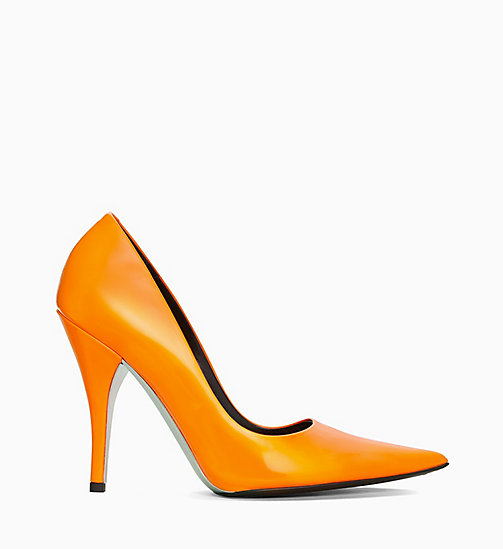 205W39NYC High Heel Pumps aus Lackleder - ORANGE - 205W39NYC SCHUHE & ACCESSOIRES - main image