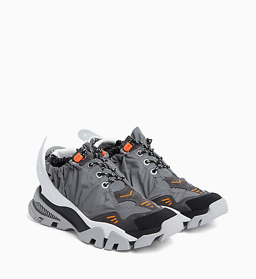 205W39NYC Athletic Sneakers in Reflective Nylon - GREY/BLACK/WHITE/ORANGE - 205W39NYC CLOTHES - detail image 1