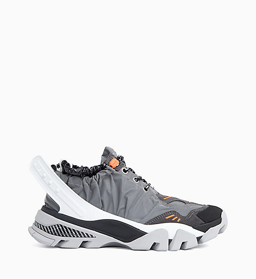 205W39NYC Athletic Sneakers in Reflective Nylon - GREY/BLACK/WHITE/ORANGE - 205W39NYC CLOTHES - main image