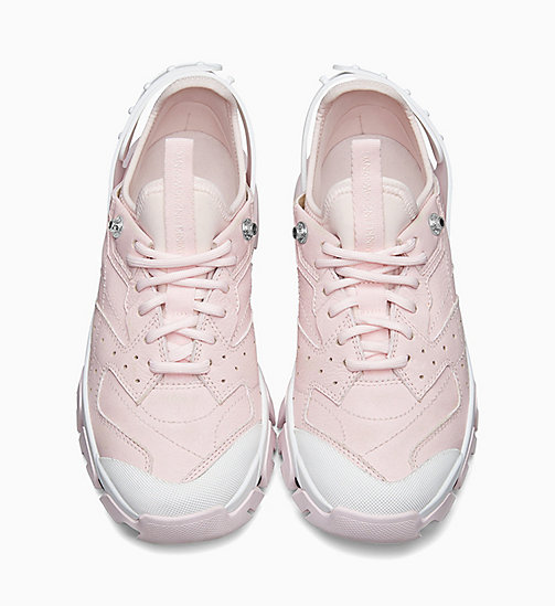 205W39NYC Athletic Sneakers in Nappa Leather - PINK/BLACK/WHITE - 205W39NYC SHOES & ACCESSORIES - detail image 1