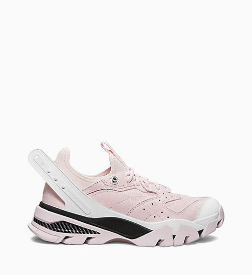 205W39NYC Athletic Sneakers in Nappa Leather - PINK/BLACK/WHITE - 205W39NYC SHOES & ACCESSORIES - main image