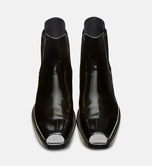 CALVIN KLEIN COLLECTION Leather Chelsea Boots with 205 Silver Toe Plate - BLACK -  #MYCALVINS WOMEN - detail image 1