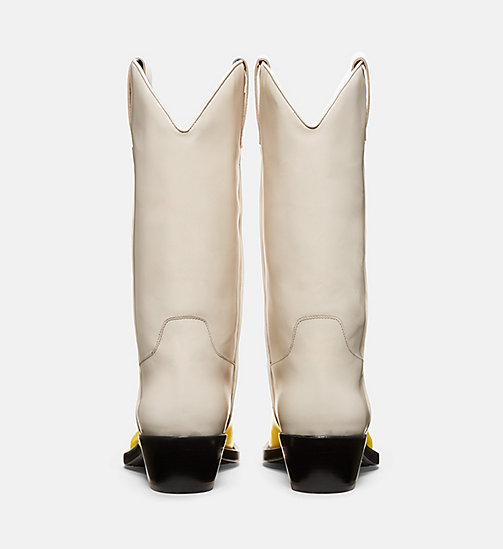 CALVINKLEIN Two-tone Western Leather Boots - SUNFLOWER/CREAM - CALVIN KLEIN WOMEN - detail image 1