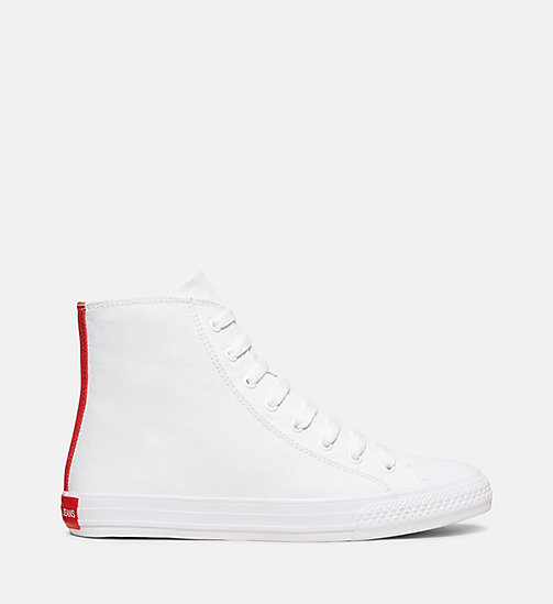 CALVINKLEIN Canvas High-Top Sneakers - WHITE/RED - CALVIN KLEIN WOMEN - main image