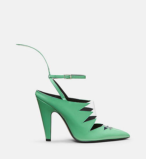 CALVIN KLEIN COLLECTION Patent Leather High-Heeled Pumps - LIGHT MINT - CALVIN KLEIN COLLECTION SHOES & ACCESSORIES - main image