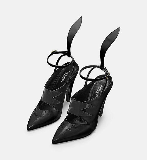 CALVIN KLEIN COLLECTION Calf Leather High-Heeled Pumps - BLACK - CALVIN KLEIN COLLECTION SHOES & ACCESSORIES - detail image 1