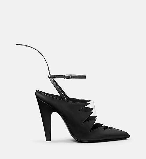 CALVIN KLEIN COLLECTION Calf Leather High-Heeled Pumps - BLACK - CALVIN KLEIN COLLECTION SHOES & ACCESSORIES - main image