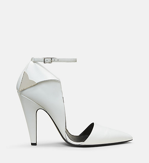 CALVIN KLEIN COLLECTION Calf Leather High-Heeled Deco Pumps - WHITE - CALVIN KLEIN COLLECTION SHOES & ACCESSORIES - main image