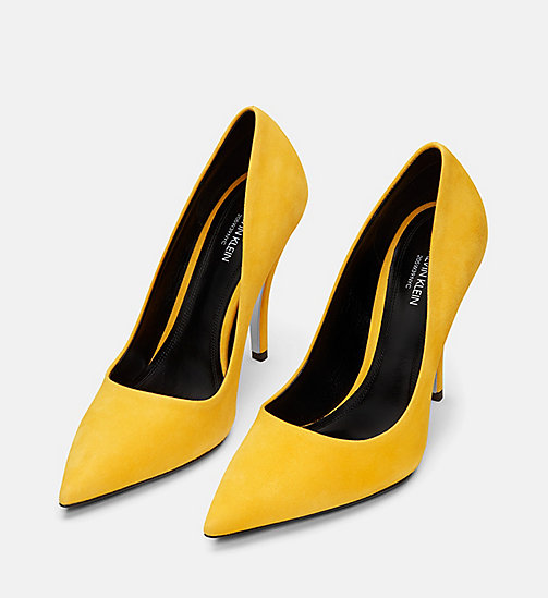 CALVIN KLEIN COLLECTION Suede High-Heeled Pumps - SUN - CALVIN KLEIN COLLECTION SHOES & ACCESSORIES - detail image 1