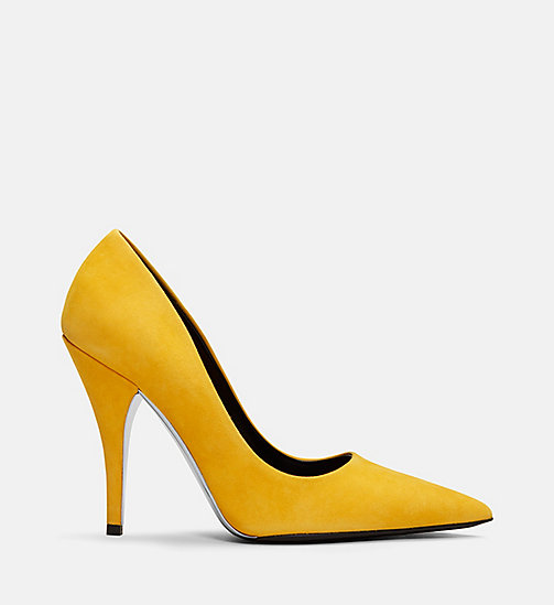 CALVIN KLEIN COLLECTION Suede High-Heeled Pumps - SUN - CALVIN KLEIN COLLECTION SHOES & ACCESSORIES - main image