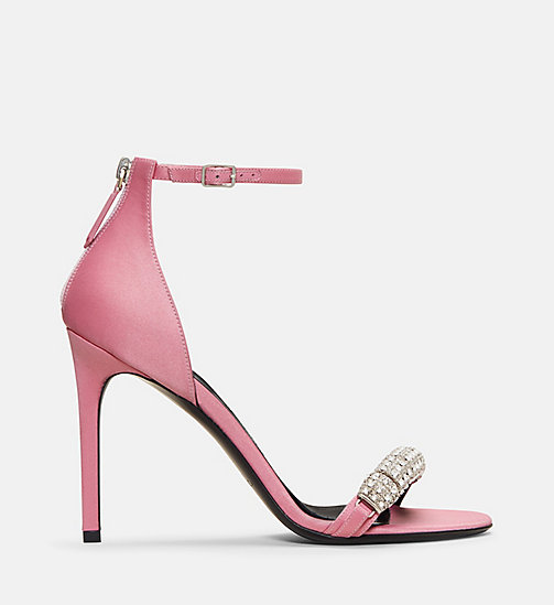 CALVIN KLEIN COLLECTION Satin High-Heeled Sandals - ROSE - CALVIN KLEIN COLLECTION SHOES & ACCESSORIES - main image