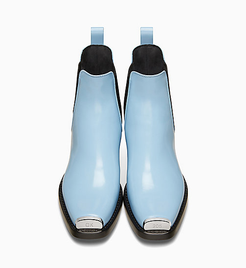 205W39NYC Silver Toe Plate Leather Chelsea Boots - CELESTE - 205W39NYC SHOES & ACCESSORIES - detail image 1