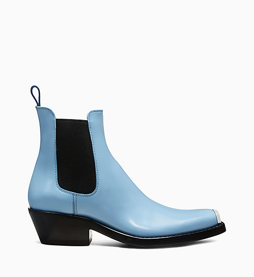 205W39NYC Silver Toe Plate Leather Chelsea Boots - CELESTE - 205W39NYC SHOES & ACCESSORIES - main image