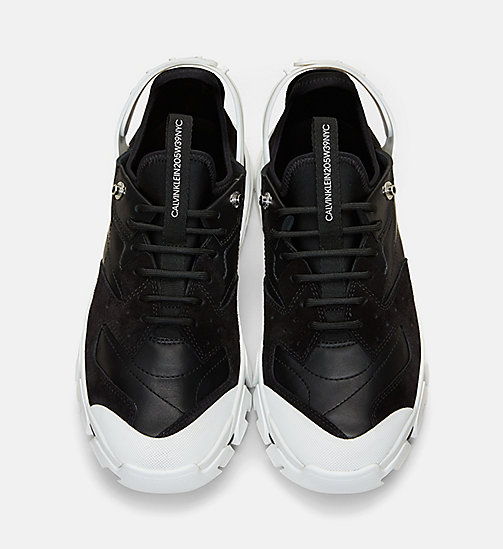 CALVIN KLEIN COLLECTION Nappa Suede Lace-Up Sneakers - BLACK - CALVIN KLEIN COLLECTION SHOES & ACCESSORIES - detail image 1