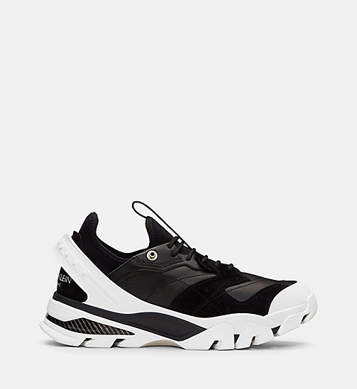CALVIN KLEIN COLLECTION Nappa Suede Lace-Up Sneakers - BLACK - CALVIN KLEIN COLLECTION SHOES & ACCESSORIES - main image