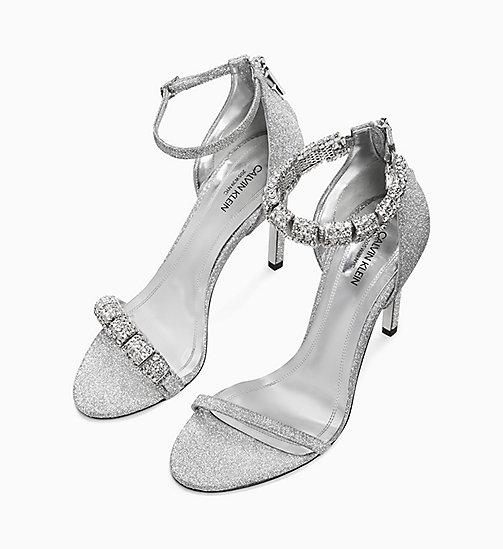 205W39NYC High Heel Sandals in Diamond Dust Leather - SILVER - 205W39NYC SHOES & ACCESSORIES - detail image 1