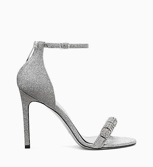 205W39NYC High Heel Sandals in Diamond Dust Leather - SILVER - 205W39NYC SHOES & ACCESSORIES - main image