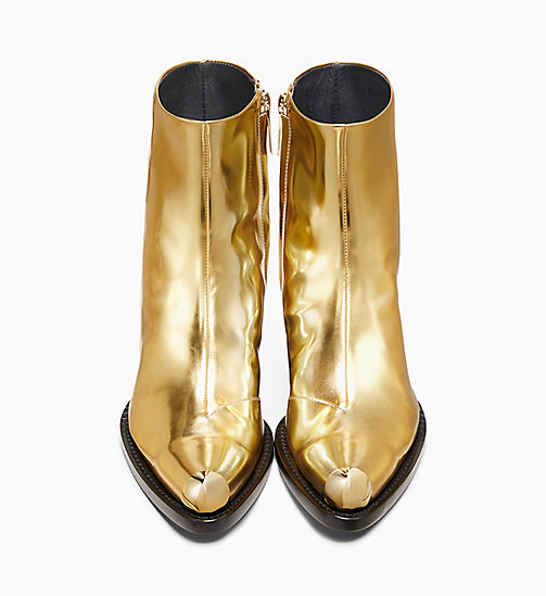 205W39NYC Western Ankle Boot in Metallic Leather - GOLD - 205W39NYC SHOES & ACCESSORIES - detail image 1