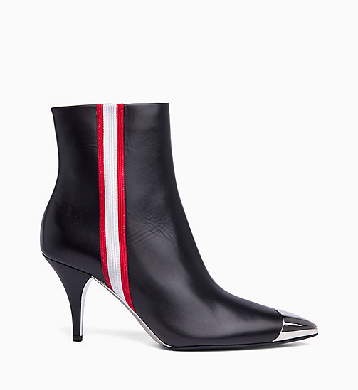 205W39NYC High-Heeled Ankle Boots in Nappa Leather - BLACK WHITE RED - 205W39NYC SHOES & ACCESSORIES - main image