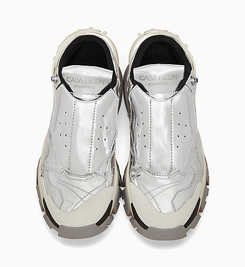 205W39NYC Athletic Trainers in Metallic Leather - SILVER - 205W39NYC SHOES & ACCESSORIES - detail image 1