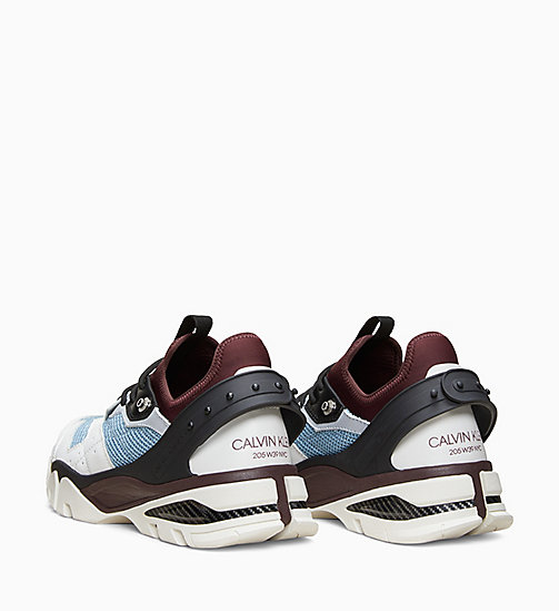 205W39NYC Nappa Leather Athletic Trainers - WHITE/AZURE/BLACK/BURGUNDY - 205W39NYC SHOES & ACCESSORIES - detail image 1