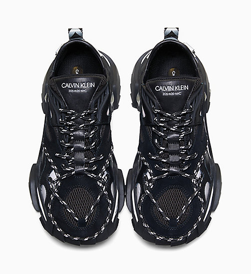 205W39NYC Heavy Tread Athletic Leather Trainers - BLACK - 205W39NYC SHOES & ACCESSORIES - detail image 1