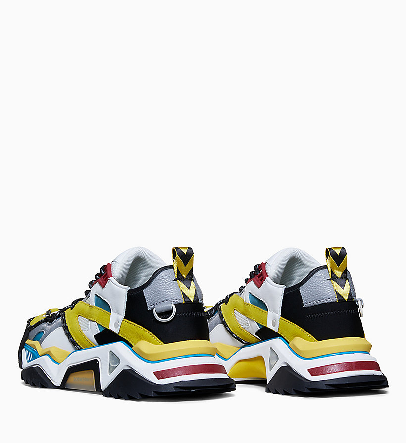 205W39NYC Heavy Tread Athletic Leather Trainers - LAGOON/YELLOW/WHT/BLK/BURGUNDY - 205W39NYC WOMEN - detail image 1
