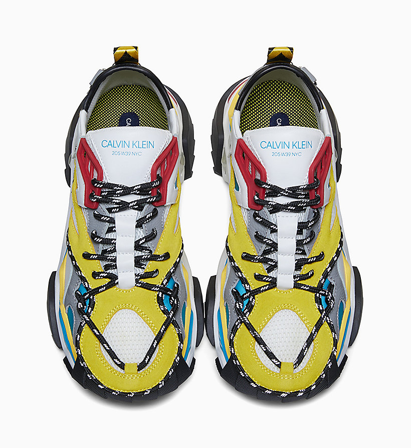 205W39NYC Heavy Tread Athletic Leather Trainers - LAGOON/YELLOW/WHT/BLK/BURGUNDY - 205W39NYC WOMEN - detail image 2
